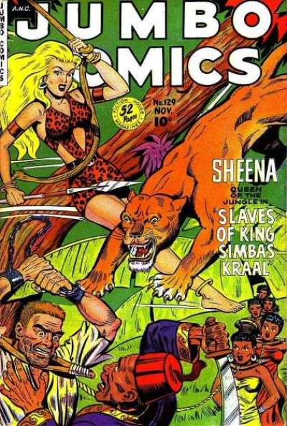 Jungle Comics 129 - Jumbo Comics - No129 - 52 Pages - Sheena - Arrow