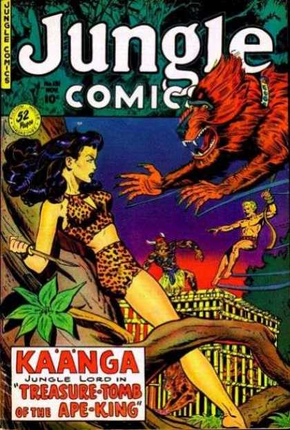 Jungle Comics 131 - Comics About Animals - Kaanga - Jungle Lord - Kaanga Jungle Lord - Treasure Tomb Of The Ape-king