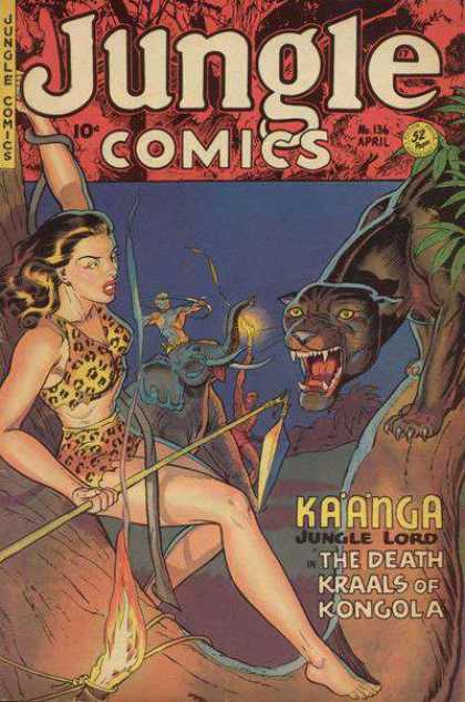 Jungle Comics 136 - Wild Animals - Jungle Lord - Spear - The Death Kraals Of Kongola - Lady