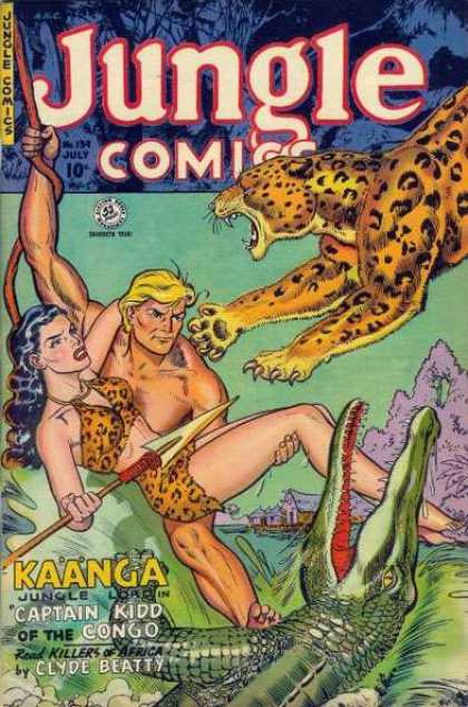 Jungle Comics 139 - Cheetah - Vine - Swing - Spear - Captain Kidd