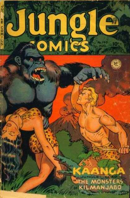 Jungle Comics 140 - Tarzan - Jane - Ape - Monstors - Save Me
