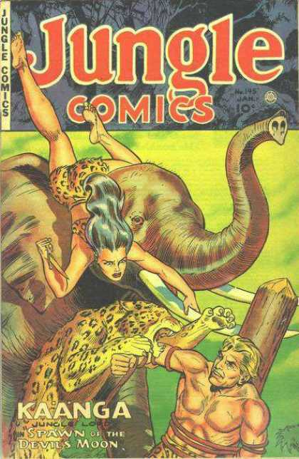 Jungle Comics 145 - Elephant - Leopard - Jungle Girl - Kaanga - Spawn Of The Devils Moon