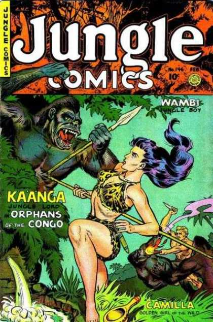 Jungle Comics 146 - Kaanga Jungle Lord - Orphans Of The Congo - Wambi Jungle Boy - Camilla Golden Girl Of The Wild - Gorillas