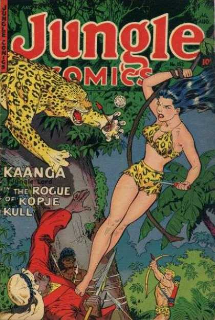 Jungle Comics 152 - Leopard - Rope - Dagger - Bow And Arrow - Tree