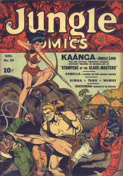 Jungle Comics 35 - Kaanga - Jungle Lord - Stampede Of The Slave-masters - Nov No 35 - Bow And Arrow