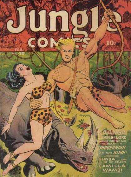 Jungle Comics 50 - Kaanga - Jungle Lord - Juggernaut Of The Bush - Simba - Camilla Wambi