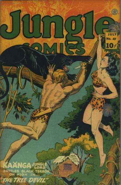Jungle Comics 55 - Panther - Knife - Trees - Treehouse - The Tree Devil