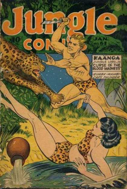 Jungle Comics 61 - Kaanga Jungle Lord In - Curse Of The Blood Madness - Simba Wambi Capt Thunder - Damsel In Distress - Cheetah