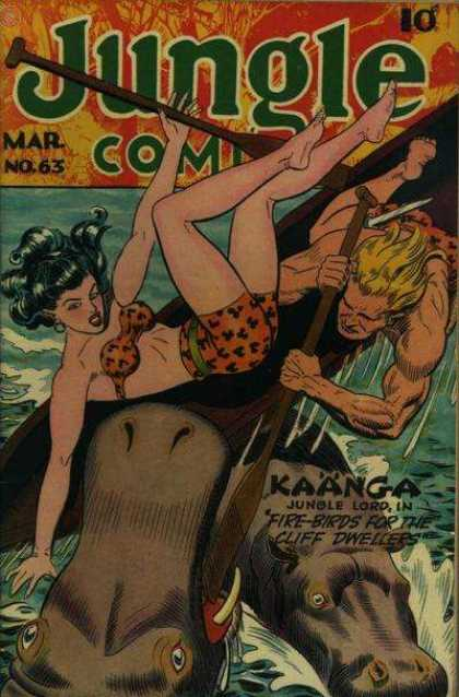 Jungle Comics 63 - Mar - No63 - Kaanga - Water - Fight