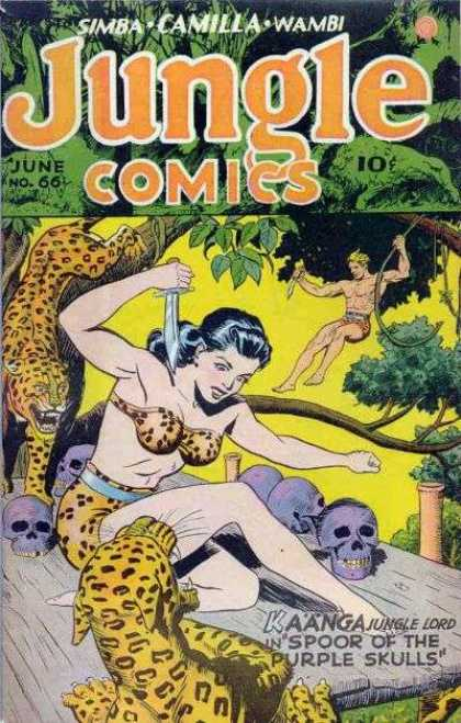Jungle Comics 66 - Simba - Camilla - Wambi - June No 66 - Kaanga Jungle Lord