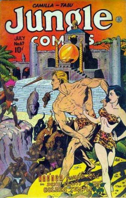 Jungle Comics 67 - Wild Beasts - Tarzan And Jane - Animal Kingdom - Animal Quests - Fighting Amazons