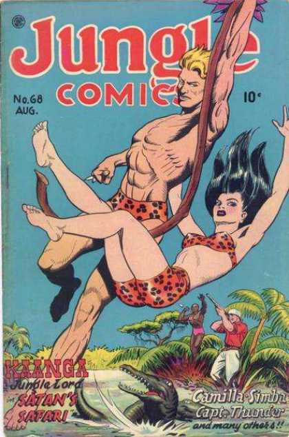 Jungle Comics 68 - Shooter - Crocodile - Tarzen - Jungle Girl - Tree