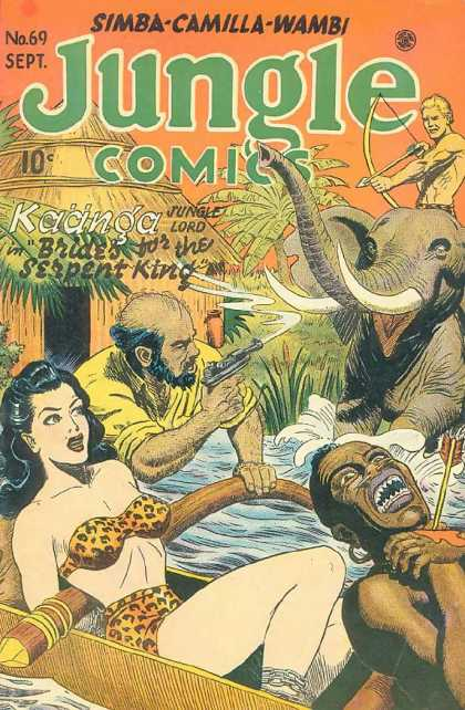 Jungle Comics 69 - Elephant - Jungle - Brides For The Serpent King - River - Hut