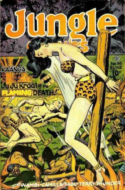 Jungle Comics 78 - 10 Cents - June - Leopard Print Bikini - Black Hair - Woman