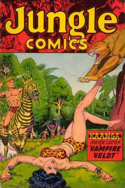 Jungle Comics 83 - Spear - Zebra - Leopard - Kaanga - Vampire Veldt