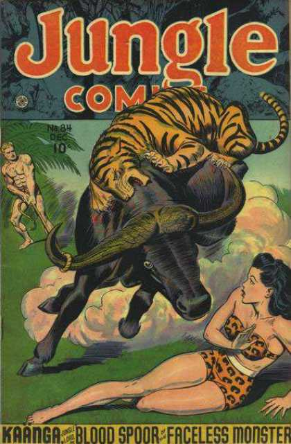 Jungle Comics 84 - Kaanga - Faceless Monster - Tiger - Bull - Blood Spoor