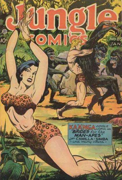 Jungle Comics 85 - Apres - Man - Woman - Jungle - Captive
