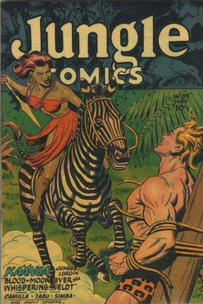 Jungle Comics 89 - Kaanga - Tarzan Like Comics - Jungle Battle - Camilla - Tabu