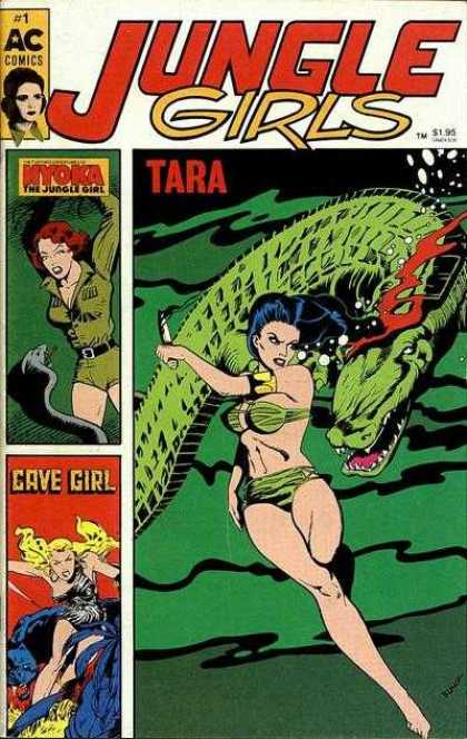 Jungle Girls 1 - Tara - Green Swimsuit - Reptile Snake - Water - Jungle Dress