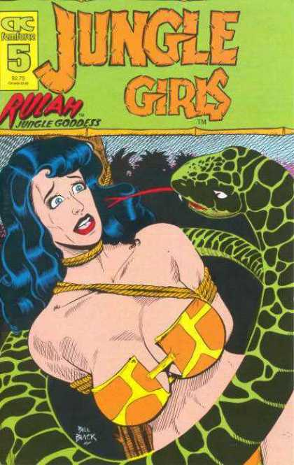 Jungle Girls 5 - Jungle Girls - Snake - Tongue - Bikini - Tied - Bill Black