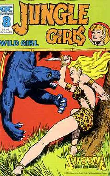 Jungle Girls 8 - Panther - Wild - Dagger - Blond - Frightened