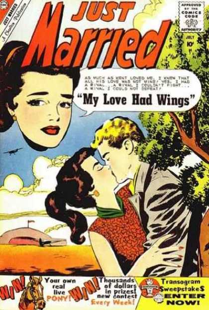 Just Married 14 - Kissing - One Boy - One Girl - Aeroplane - Sea
