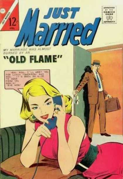 Just Married 36 - Comics Code Authority - Old Flame - 12 Cents - Marriage - Married