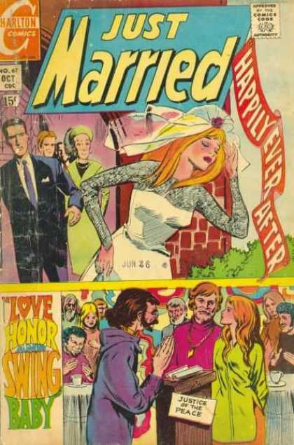 Just Married 67 - Wedding - Old Comic - Collectors Item - 70s Wedding - Jun 26th