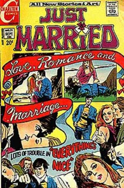 Just Married 79 - Love - Romance - Charlton - Trouble - Punch