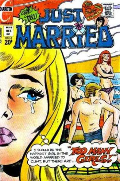 Just Married 88 - Beach - Crying - Swimsuit - Ocean - Girls