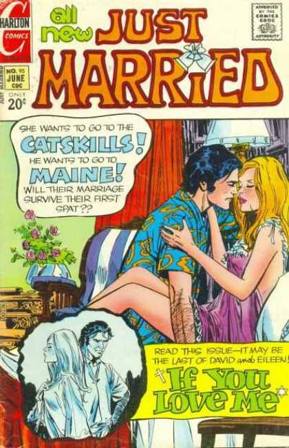 Just Married 95 - Catskills - Maine - Couple - Lovers - The 70s