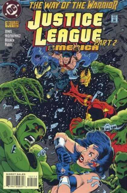 Justice League America 101 - The Way Of The Warrior - Aliens - Outerspace - Iron Man - Superhero