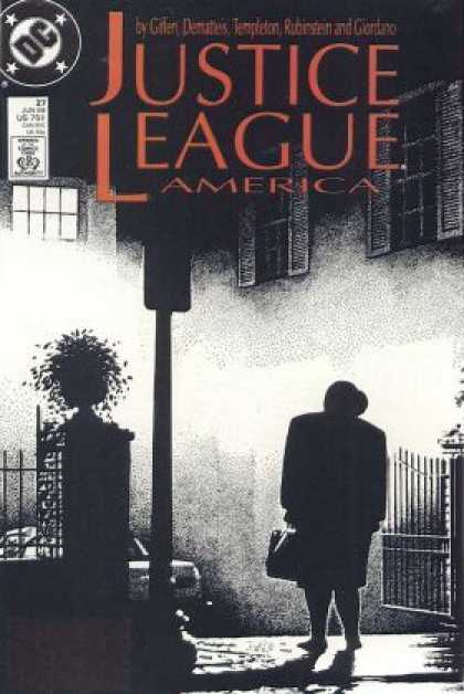 Justice League America 27 - Silhouette - Shadows - Dark - Building - Figure - Kevin Maguire
