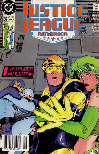 Justice League America 37 - Intruder - Filert - One Boy - One Girl - Attack