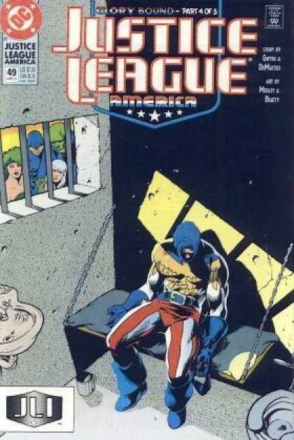 Justice League America 49 - Dc Comic - Jail - Glory Bound Part 4 Of 5 - Sink - Jli - Adam Hughes