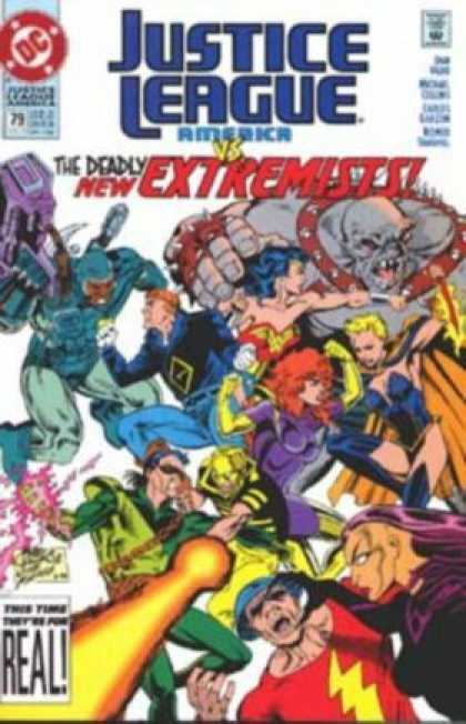 Justice League America 79 - The Deadly New Extremists - Real - Monsters - Sext Girls - Blonde - Mike Collins