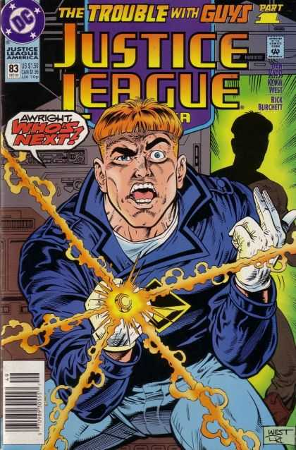 Justice League America 83 - The Trouble With Guys - Ring - Gloves - Part 1 - Man