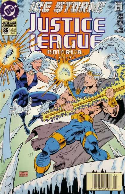 Justice League America 85 - Dc - Ice Storm - Dan Vado - Kevin West - Kim Branch