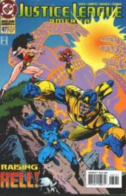 Justice League America 87 - Dc - Costumes - Superheroes - Battle - Raising Hell