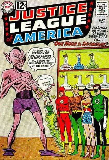 Justice League of America 11 - Comics Code - Dc - Troll - Superheroes - One Hour To Doomsday - Murphy Anderson