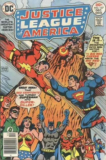 Justice League of America 137 - Superman - Batman - Wonder Woman - Green Lantern - The Flash