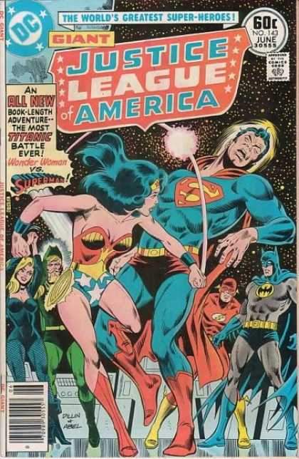 Justice League of America 143 - Dc Comics - Wonder Woman - Superman - Batman - Flash