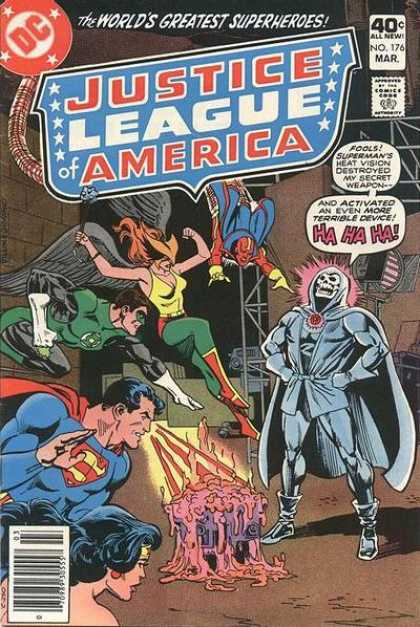 Justice League of America 176 - Green Lantern - Superman - Wonder Woman - Heat Vision - Red Tornado - Dick Giordano