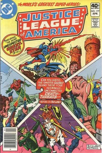 Justice League of America 177 - Aquaman - Atom - Superman - Green Arrow - Black Canary - Dick Giordano, Richard Buckler