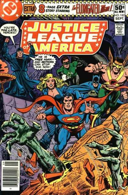Justice League of America 182 - Dc - Dc Comics - Justice League - Elongated Man - Superman - Dave Cockrum, Dick Giordano