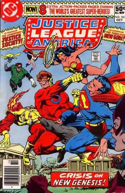 Justice League of America 183 - Super Woman - Super Man - Flying Heroes - Crisis - Fiery Hair - Jim Starlin