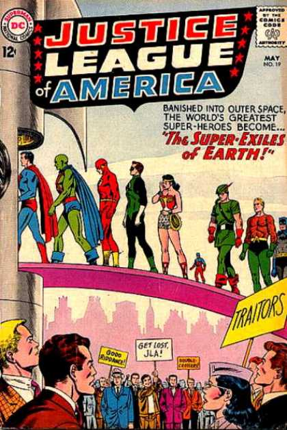 Justice League of America 19 - Super-heros - America - Space - Green - Red