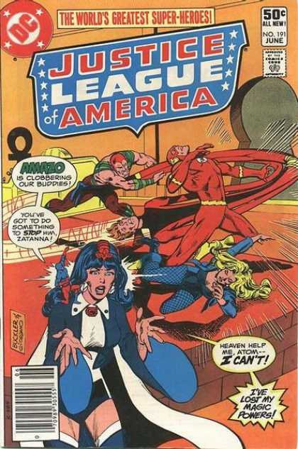 Justice League of America 191 - I Have Lost My Magic Powers - Amazo - The Worlds Greatest Super Heros - Heaven Help Meatom I Cant - One Super Man - Dick Giordano, Richard Buckler