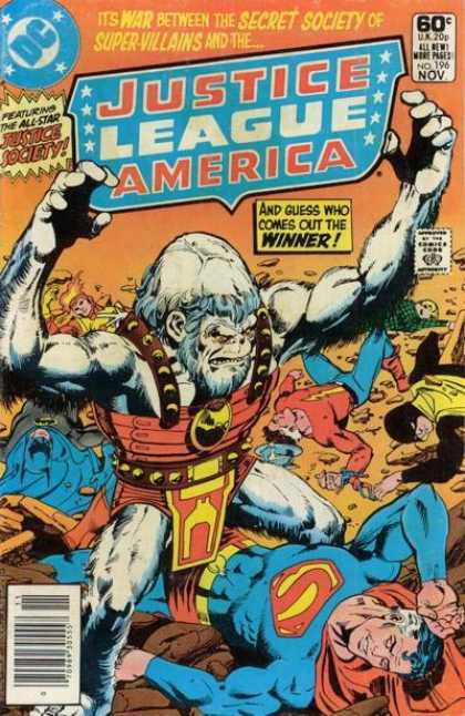 Justice League of America 196 - War Of The Secret Society Of Supervillains - Winner - Justice Society - Gorilla - Superman - Dick Giordano, George Perez