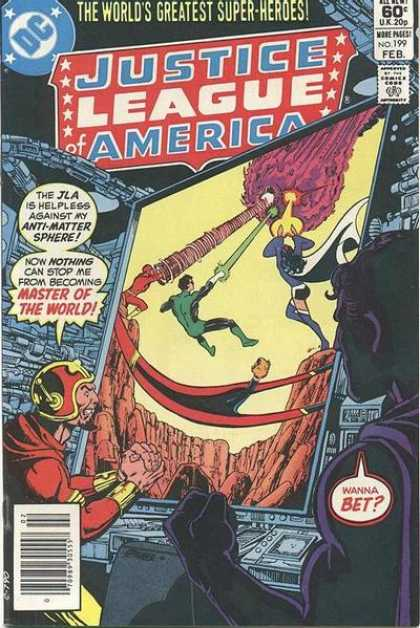 Justice League of America 199 - Great Heroes - Worlds Super Heroes - Master Of The World - Bet Hero - Dangerous Hero - George Perez